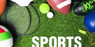 Ballsport-Equipment auf Rasen